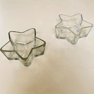 Anthropologie Star Set Glass Candy Dishes